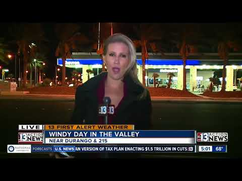 Windy day ahead for Las Vegas valley