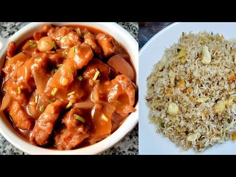 Hot garlic chicken & egg fried rice combo | হট গার্লিক চিকেন আর এগ ফ্রায়েড রাইস রেসিপি