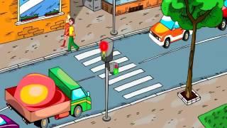 Переходи дорогу на зеленый сигнал светофора  ПДД для детей