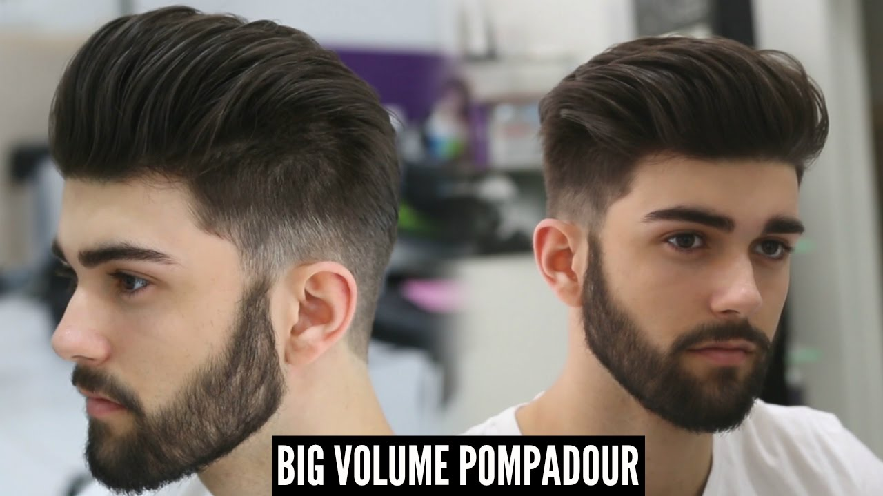 big volume pompadour - new best mens hairstyle for 2018 - tutorial