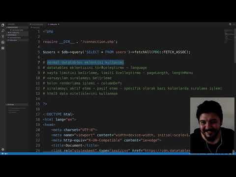 jQuery DataTables Eklentisi Kullanımı (1. Bölüm) thumbnail