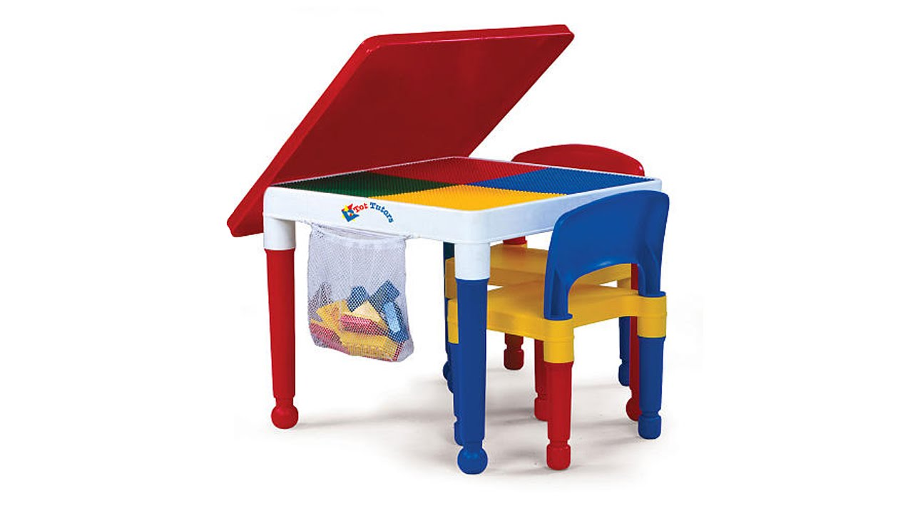 activity table and chair set low leg recliner chairs tot tutors 2 in 1 construction toys r us youtube