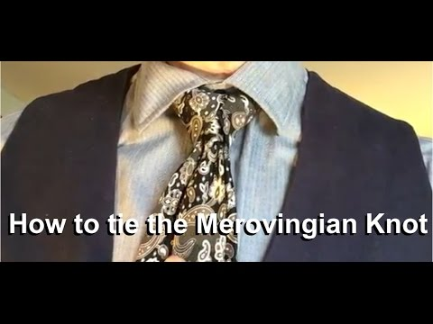 How to tie a tie how to tie the merovingian knot youtube ccuart Image collections