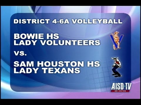 2017 Volleyball: Bowie Lady Volunteers at Sam Houston Lady Texans