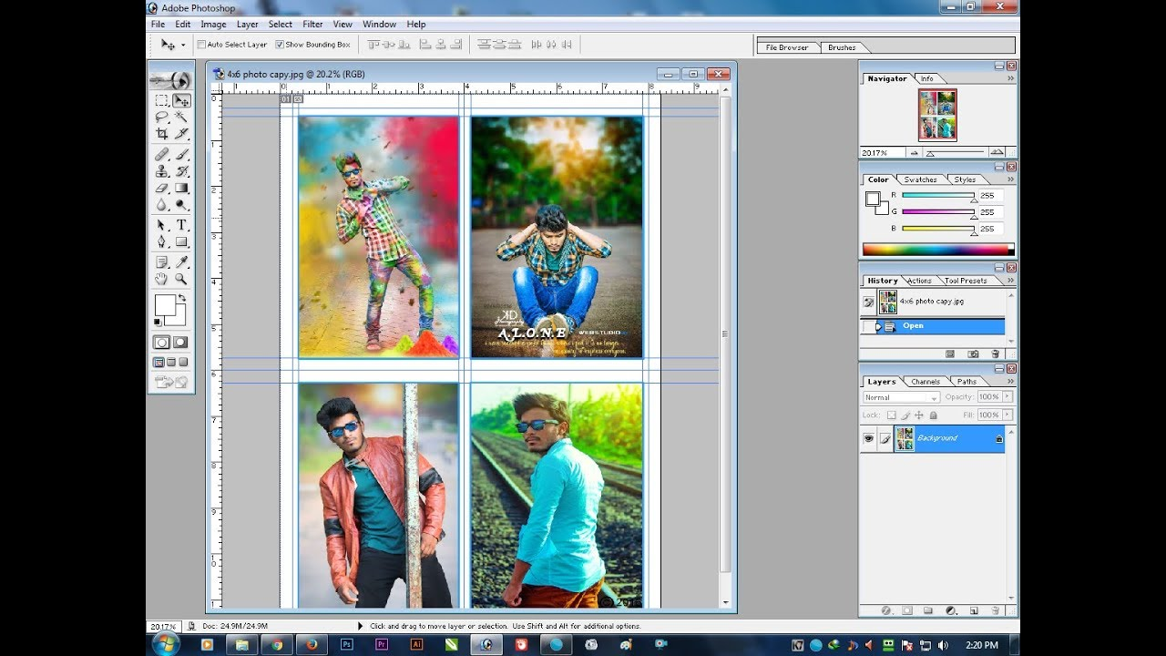 How to Make a Photo Collage in Photoshop - TheNerdNest