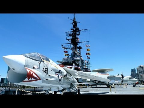 USS MIDWAY AIRCRAFT CARRIER....SAN DIEGO MUSEUM / TOURS