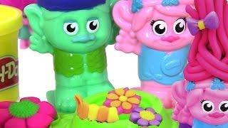 #Тролли Мультик САЛОН КРАСОТЫ #ПластилиндляДетей Play Doh Развивающие Игры для Детей