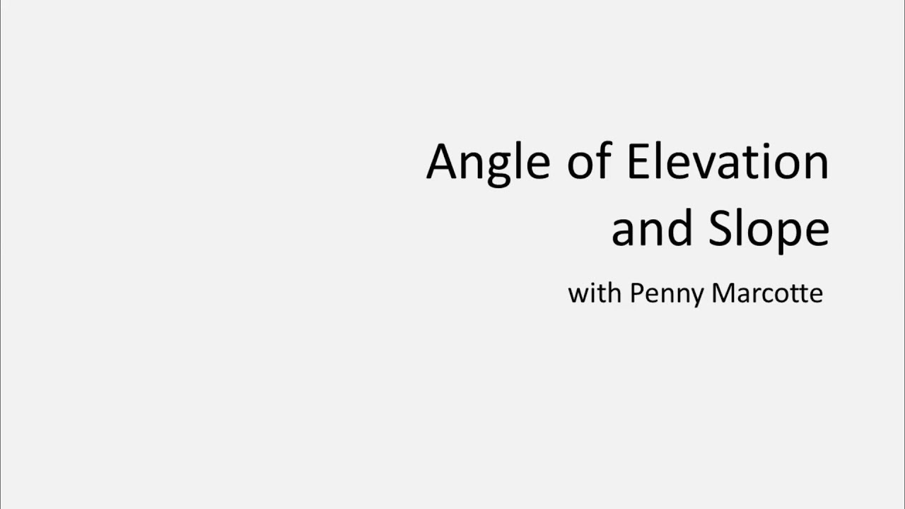 Learn angle of elevation