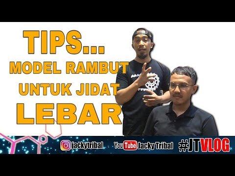 TIPS MODEL RAMBUT UNTUK JIDAT LEBAR || #JTVLOG28 - YouTube
