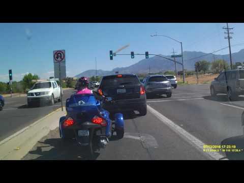 Dashcam Video: Motorcycle & Small SUV Collide: Sierra Vista, Ariz