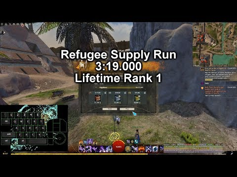 [GW2] Refugee Supply Run - Gold (3:19.000, LIFETIME RANK 1!!!)