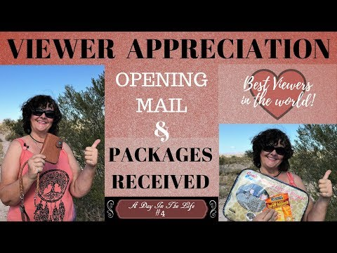 A DAY IN THE LIFE #5: Viewer Appreciation. Mail, and Packages Received.