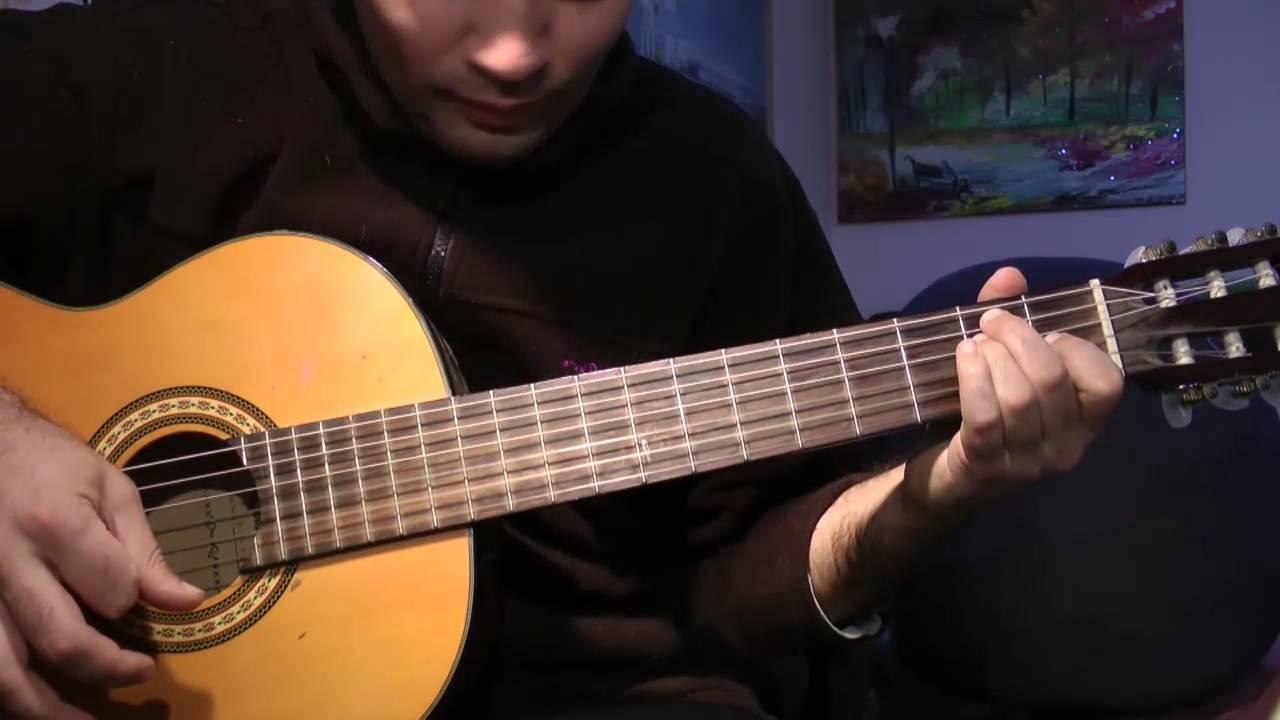 Испанское фламенкона гитареполный уроквыучите за
