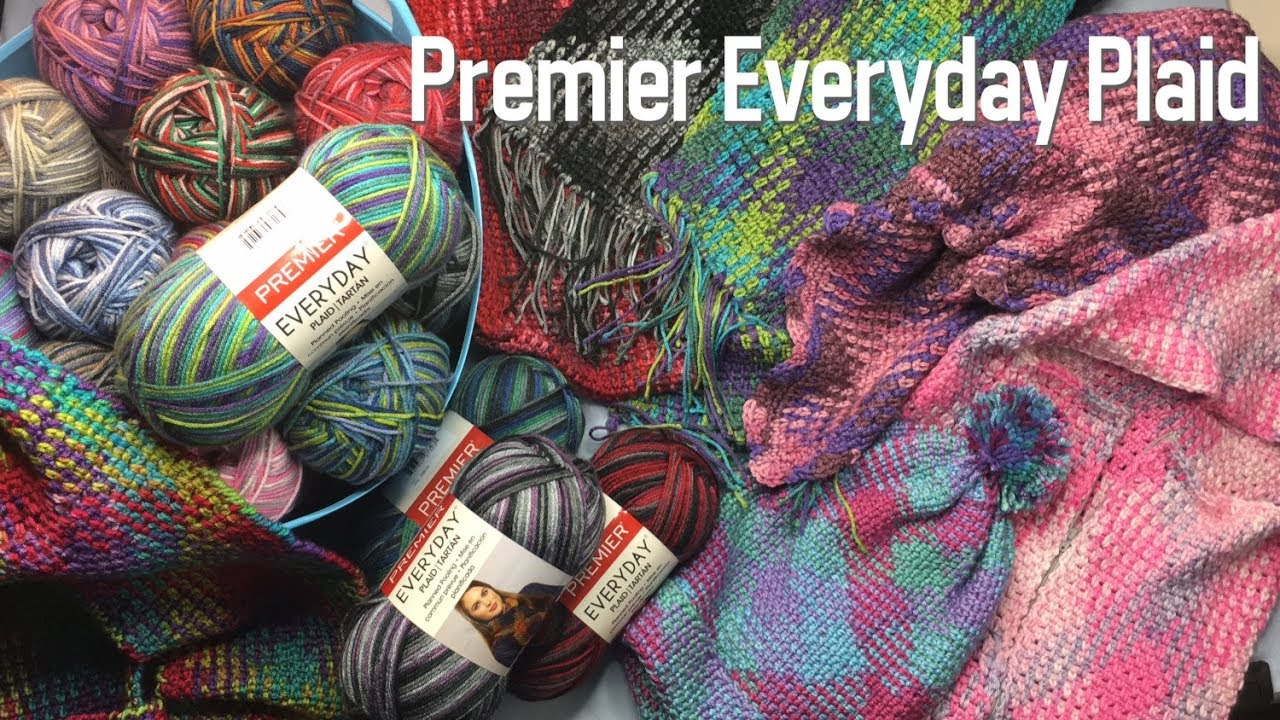 Unboxing Premier Everyday Plaid Planned Pooling Yarn And Pattern