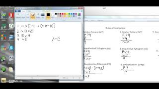 Part 8 Symbolic Logic (Easy proofs using rules of implication) Thumbnail