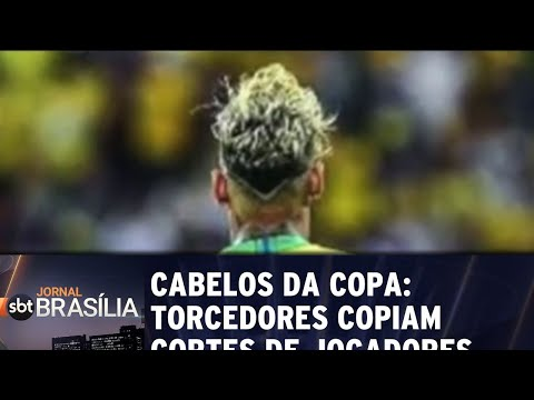 Cabelos da copa: torcedores copiam cortes de jogadores   Jornal SBT Brasília 26/06/2018