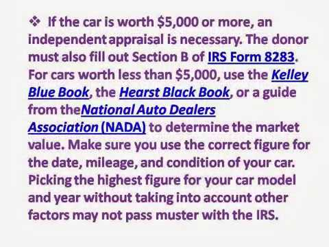 Tips for how to donate a Car to charity in california