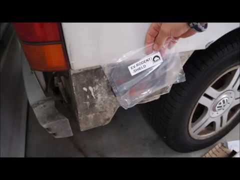 1993 Eurovan - installing GoWesty Rodent Ingress Prevention Kit mouse guard