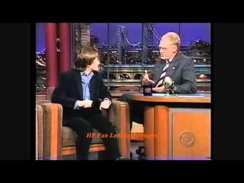 Daniel Radcliffe on Letterman: [2001 Sorcerer's Stone]