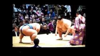 逸ノ城vs琴奨菊 平成27年大相撲春場所 Ichinojo vs Kotosyogiku SUMO.