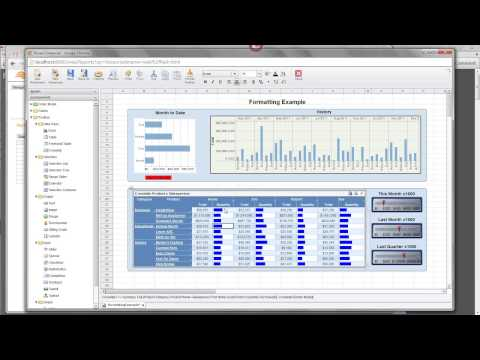 Formatting data in a dashboard