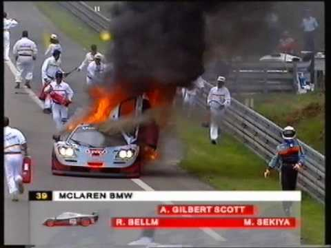 Download 1997 - Le Mans - Two major fires at the Mulsanne 'bosse.'
