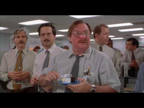 Office Space (1999) - Milton Cake Scene