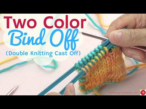 Double Sided Bind Off -  Double Side Knitting Cast Off - Two Color Bind Off