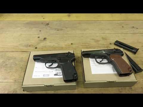 Пистолеты ПМ,  Р-411 и МР-371 сравнение.