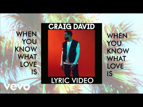 Craig David - When You Know What Love Is Lyric