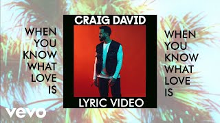 Craig David - When You Know What Love Is (Lyric Video) Video