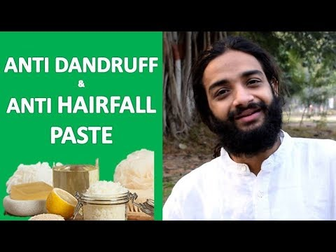ANTI DANDRUFF & ANTI HAIRFALL PASTE | AYURVEDIC SOLUTION FOR DANDRUFF BY NITYANANDAM SHREE