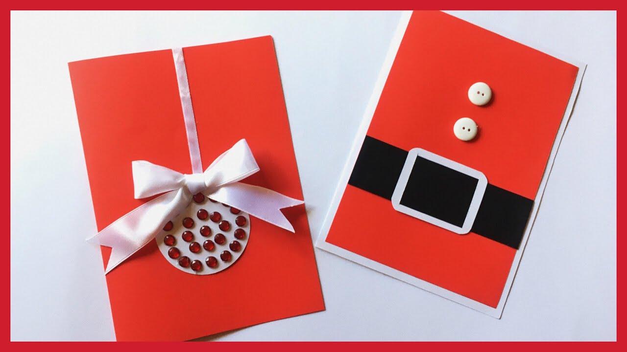 Tarjetas navide as originales hechas a mano 2018 como - Como hacer tarjetas de navidad faciles ...