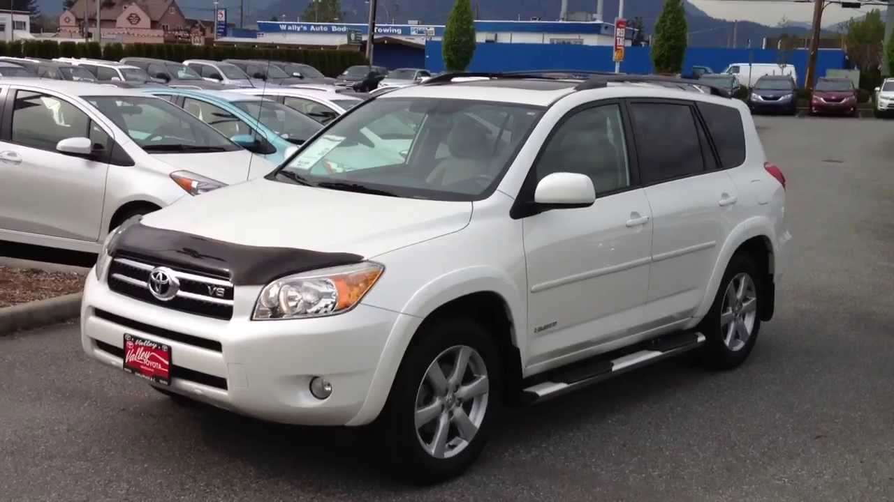 sold 2007 white toyota rav4 limited v6 14105a for sale here at valley toyota scion youtube. Black Bedroom Furniture Sets. Home Design Ideas