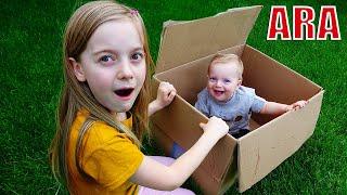 Ulya وشقيقها يمارسان الألعاب والأنشطة الخارجية للأطفال