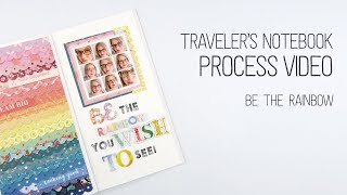 Gambar cover Traveler's Notebook Layout // USE YOUR SCRAPS CHALLENGE // Be The Rainbow