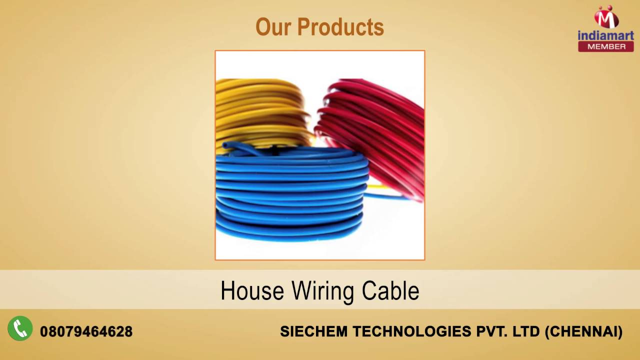 Wires and Cables By Siechem Technologies Pvt. Ltd, Chennai - YouTube
