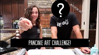 PANCAKE ART CHALLENGE ft MY PARENTS - Kaycee Rice