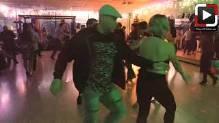 Hanna y Robert Ritmostar social dancing at Dance Heights Salsa Social