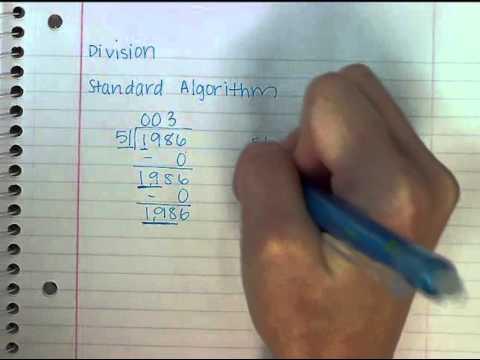 Division Using The Standard Algorithm
