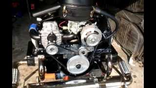 1600cc Type 1 VW Beetle Engine with Aisin AMR500 Blower Supercharger