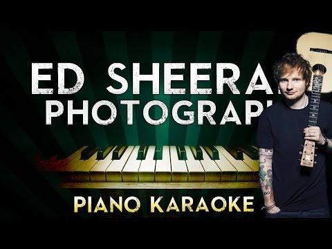 Ed Sheeran - Photograph  Piano Karaoke Instrumental  Cover Sing Along