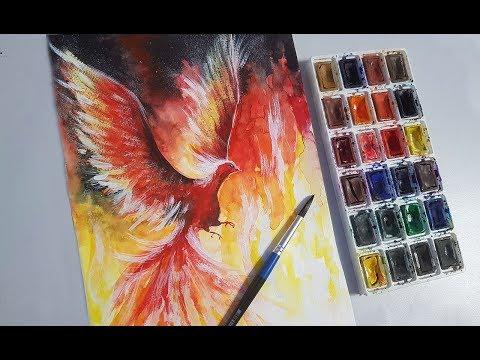 Как рисовать птицу феникс
