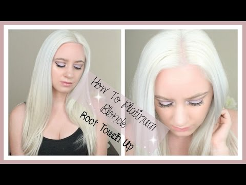 How To Platinum Blonde Root Touch Up