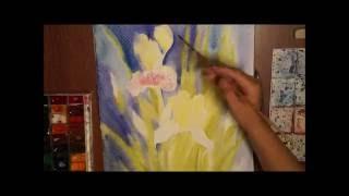Рисуем акварелью ирисы