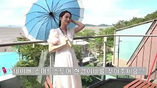 단색 가벼운 장우산 자외선차단 파스텔컬러 북유럽미니멀 …