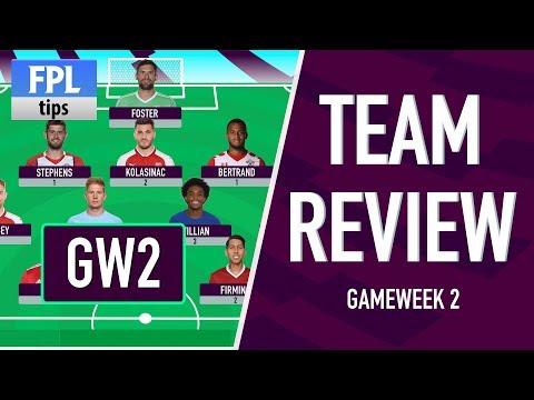 GAMEWEEK 2: TEAM REVIEW | Kane Blanks Again! | Fantasy Premier League 2017/18