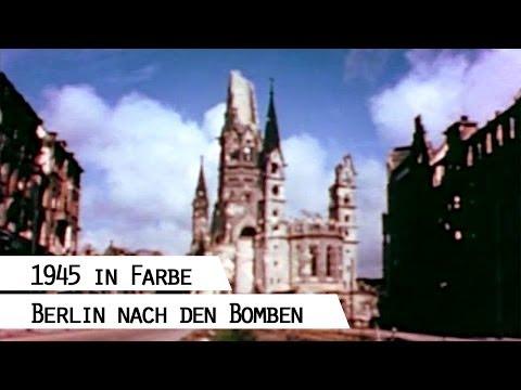 Ruine der Gedächtniskirche, Berlin 1945 (in Farbe)