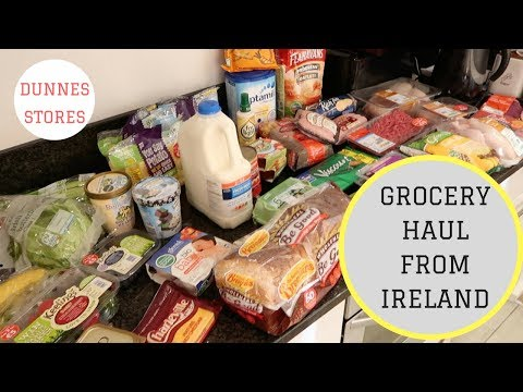 GROCERY HAUL FROM IRELAND || DUNNES STORES || €100 HAUL