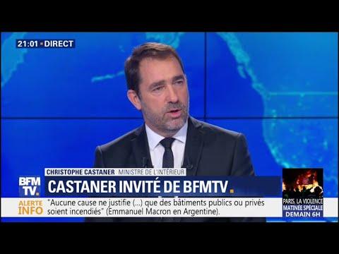 """""""Il y a 110 blessés, un gilet jaune est en urgence absolue"""", déclare Christophe Castaner"""